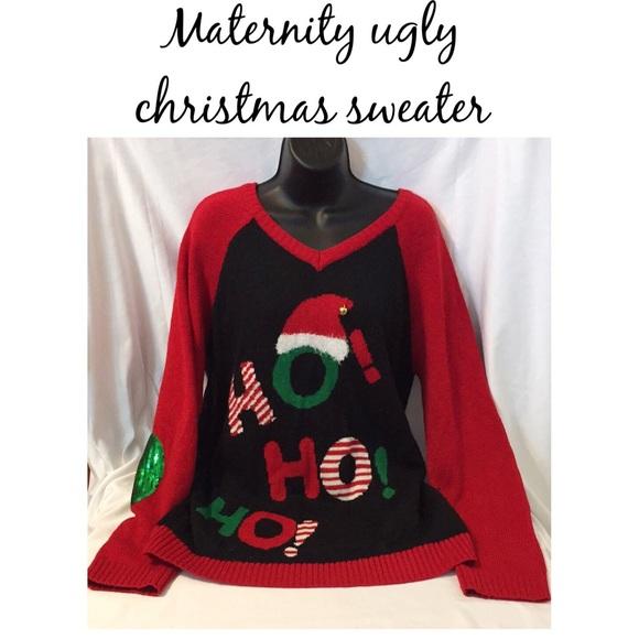 derek heart ugly christmas sweater maternity - Maternity Ugly Christmas Sweater