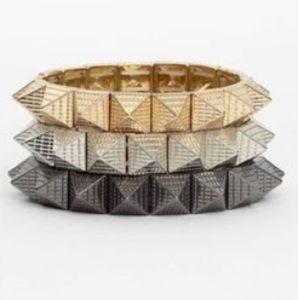 Cara Couture Jewelry - Cara NY Couture pyramid stretch bracelet