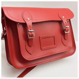 {Cambridge Satchel Co.} Red Leather Mini Briefcase