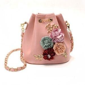 Handbags - New Ballet Pink Floral Bucket