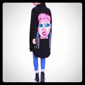 Jackets & Blazers - ❤️MOTHERS DAY SPECIAL❤️DENIM GRAFFITI PRINT JACKET
