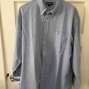Land's End button down blue shirt long sleeve