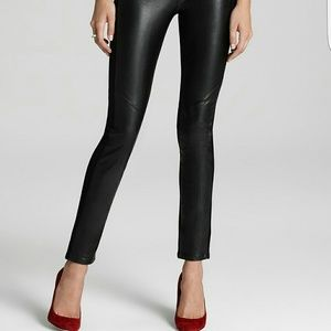 Paige Paloma Faux leather & Knit Leggings - NWT