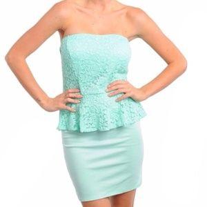 Dresses & Skirts - Mint Peplum dress