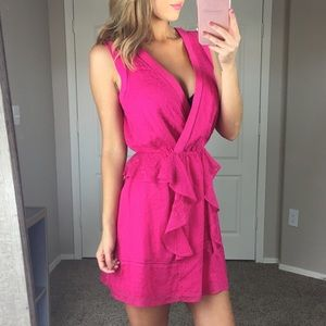 Adelyn Rae Pink Ruffle Dress Size XS