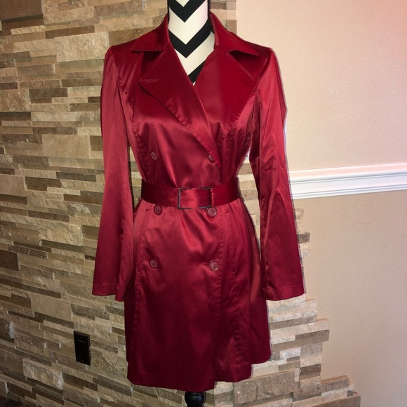 Rena Rowan Jackets & Blazers - Red Trench Coat