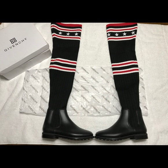 63f1317b8864 Givenchy Shoes - New Givenchy Over the Knee Sock Boot.