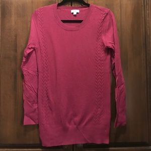 Wine-colored maternity sweater