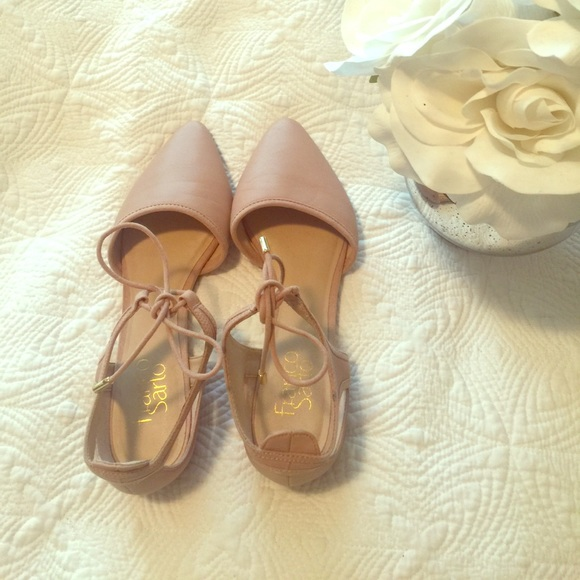 Franco Sarto cut-out flats never been worn