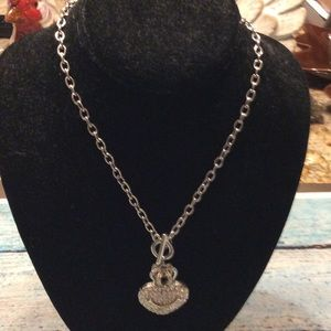 Jewelry - Juicy Couture sparkle heart ❤️ necklace