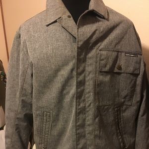 EUC Men's Volcom Snow Jacket Size M Grey Quilted