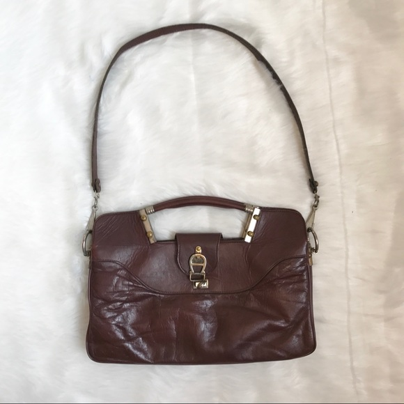 Vintage Etienne Aigner Burgundy Leather Purse bd5d3ff584d5e