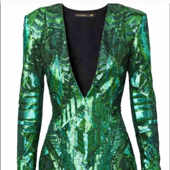 c9e246711815a Balmain Dresses | Emerald Dress Sold Out Everywhere | Poshmark