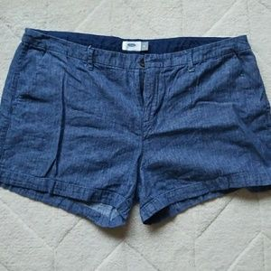 Lightweight Linen Blend Shorts