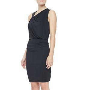 Halston Heritage Draped Asymmetrical Jersey Dress
