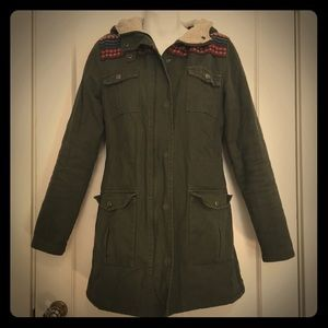 Element Military Style Green Winter Jacket