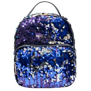Handbags - Blue Purple Sequin Mini Backpack