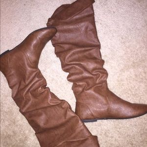 Shoes - Brown Tall Boots