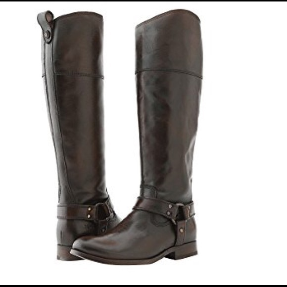 13dbfadcf3f Frye Shoes - Melissa Harness Brown Frye Riding Boots