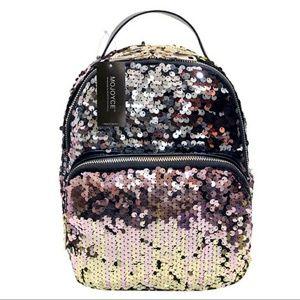 Handbags - Bronze Gold Sequin Mini Backpack