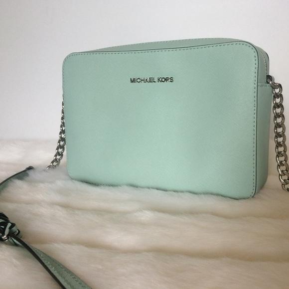 Michael Kors Mint Leather Crossbody