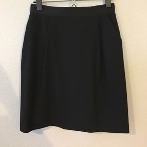 Kate spade navy pencil skirt with bow detail