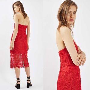 1fd63ae9 Topshop Dresses | Nwt 150 Bandeau Lace Midi Dress 6 | Poshmark