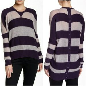L.A.M.B Mohair striped cocoon crew sweater 😎
