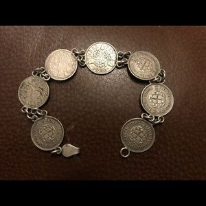 Jewelry - 3 pence coin bracelet