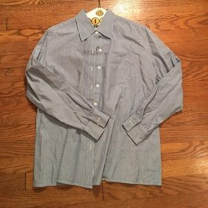 Mimi Maternity Blue and White Oxford - size Small