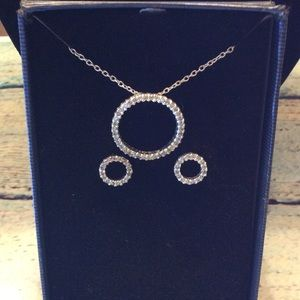 Jewelry - Necklace and earrings bling set new in box