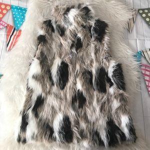 Zara mock fur vest