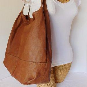 13e08324139a Banana Republic Bags - BANANA REPUBLIC BROWN LARGE SOFT LEATHER TOTE BAG