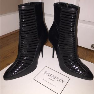 Black Balmain Booties ❤️