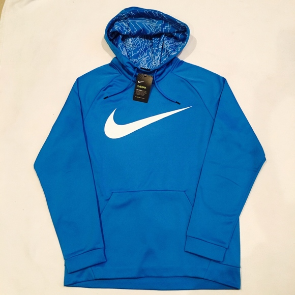Nike Swoosh Therma Men's Training Pullover Hoodie NWT