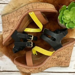 Dv by Dolce Vita Wedges with Multi Colored Straps