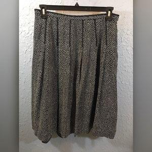 Pendleton Black/White Polka Dot Silk Skirt, Sz 14