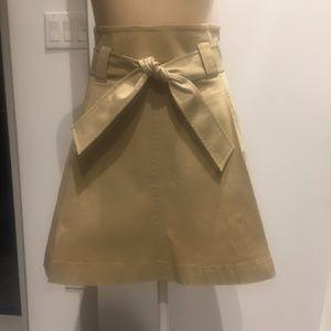 Theory structured khaki skirt