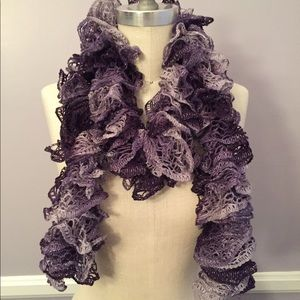Accessories - New hand crocheted ombre ruffle scarf