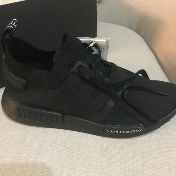 Men's Brands Adidas NMD R1 Runner Triple Black Blackout