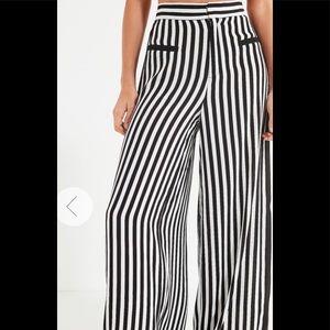 Wide leg monochrome pants