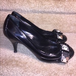 Burberry Nova check black patent leather pump 38.5