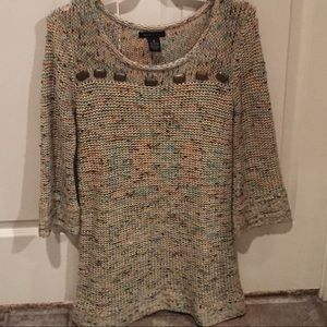 BCBGMaxAzria Sweater Tunic with 3/4 sleeve