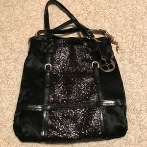 Fun, black, shimmery purse