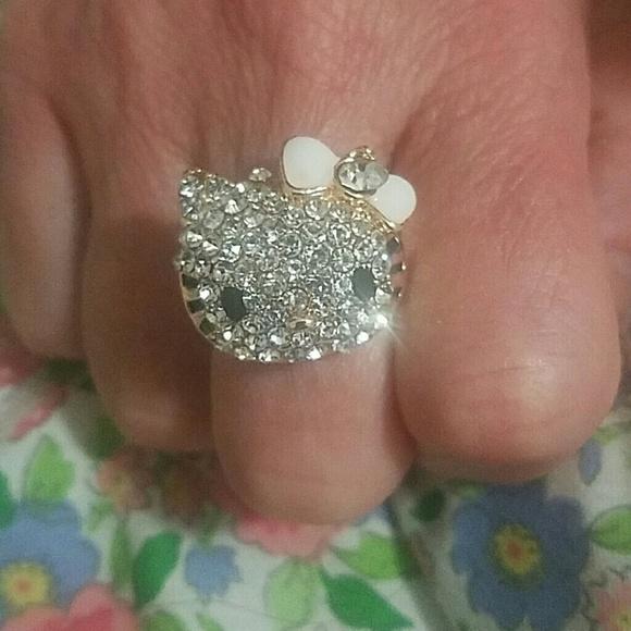 272253fc8 Hello Kitty Jewelry | Ring Crystal Ring | Poshmark