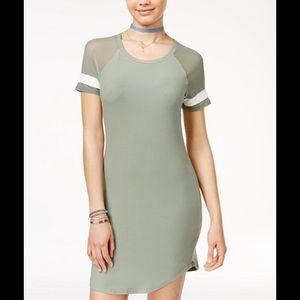 Juniors Illusion-Sleeve T-Shirt Dress