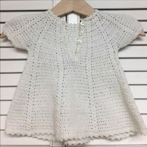'70s White Knitted Dress