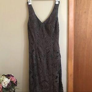 Gray beaded cocktail dress