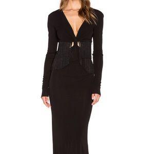 Rachel zoe black evening gown