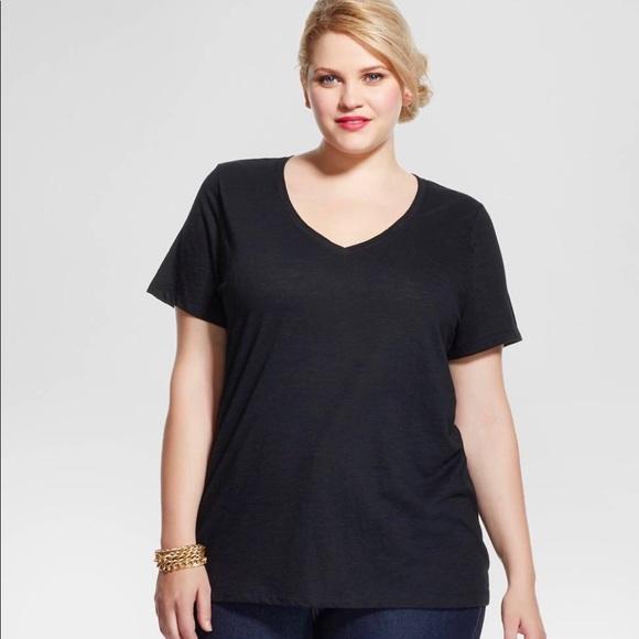 fcf4e2c519c Ava   Viv Black V-Neck T-Shirt Sz. 3x NWT